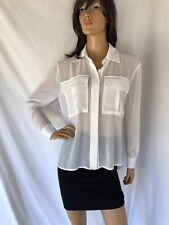 Ramy Brook NWOT Long Sleeve Button Front Blouse Top White  Size XS