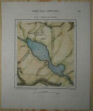 1883 Perron map TONLE SAP, THE GREAT LAKE OF CAMBODIA (#191)