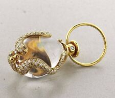 Temple St. Clair 18k Gold Diamond Crystal Serpent Snake Amulet Pendant $8500
