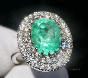 Emerald Ring Diamond Gold 14K Colombian Natural 8.09CTWGIA Certif RETAIL $29,800