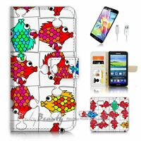 ( For Samsung Galaxy S7 ) Case Cover P3401 Funny Fish