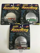 Lot of 3 Johnny Lightning Show Rods White Wheels Rubber Tires New Sealed
