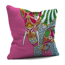 Elephant & Baby Cushion Cover & Inner 45cm Digitally Printed Designer Faux Suede