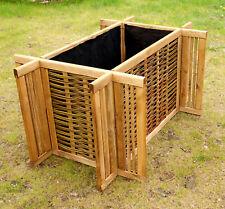 Beetkasten  Weide zum Stecken 120 x 80 x 60 cm Frühbeet Garten Hochbeet TOP NEU