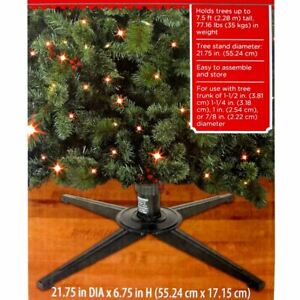 Holiday Time METAL Replacement Christmas Art Tree Stand Holds Trees up 7.5 ft Ta