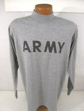 US Army Gray Cotton Physical Fittness Long Sleeve Tee Shirt T-Shirt Size X-Large