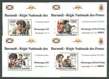 Elvis Presley - Burundi - 4 Bl. ** MNH 2011