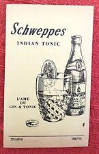 PUBLICITE SCHWEPPES INDIAN TONIC L'ame du gin & Tonic 1958 (pub authentique)