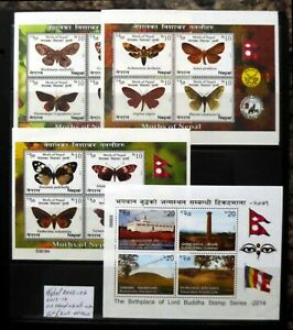 NEPAL 2002 Sets and M/Sheets on 3 Pages Cat £205 As Described DM895