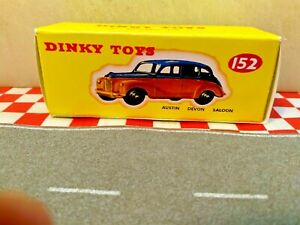Dinky Toys 152 AUSTIN DEVON saloon  EMPTY  Repro box ONLY    NO CAR