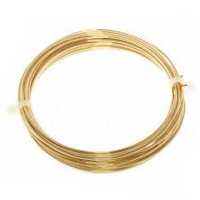 Alambre de Artesanía del grano dorado en 1mm de cobre (18 AWG) - 4 metros (C68/9)