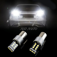 2X CANBUS 1156 High Power 15PCS 2835-Chip LED White Reverse Back Up Lights Bulbs
