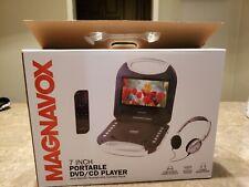 MAGNAVOX 7 INCH PORTABLE DVD CD PLAYER - SWIVEL SCREEN DISPLAY + REMOTE NT 6743