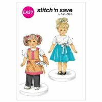 "McCalls Sewing Patterns 6492 18"" / 46cm Doll Clothes Aprons Tops Pants Apron"