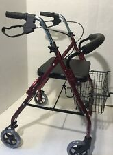 BR NEW Rollator Walking Frame Lightweight A Frame Walker Maroon/Burgundy Colour
