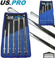 US PRO Tools 5pc Aviation Double Ended Ring Extra Long Spanner Set 8-19mm 3223