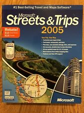 MS Streets & Trips 2005 PC CD GPS - Free Shipping