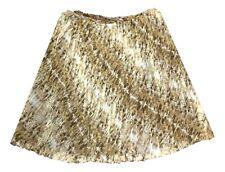 Jones New York Size 20W Brown Beige Multi Animal Pleated Knee Length Skirt
