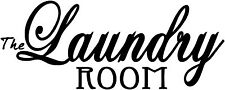 "13"" LAUNDRY ROOM QUOTE VINYL DECAL STICKER DESIGN WASHING ROOM WALL ART"