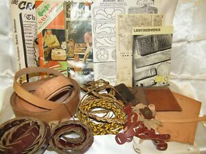 Vintage Lot of TANDY Leather Kit w Leather Patterns & Leather Kits