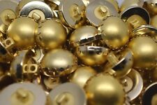 M214-4pcs Large HALF BALL DOME+Metal Ring Italian Buttons 21mm-GOLD -Coat Jacket