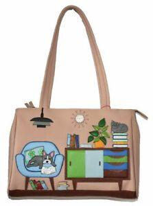 Mala Leather Handbag - Lounging Beau Leather Dog Shoulder Bag RRP £100