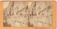 JERUSALEM Mur des Lamentations Juifs Stereo J. Andrieu Paris Albumine ca 1870