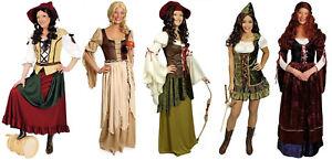 Magd Markt Bäuerin Wirtin Burg Robin Hood Kostüm Kleid Burgdame Freifrau Rokoko
