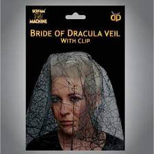 Halloween Bride of Dracula VEIL Zombie Ladies Fancy Dress