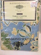Raymond Waites Rectangular Tablecloth 60 X 102 Blue And Yellow Pattern