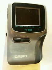 Time Warp VINTAGE UHF anni 1990 Casio TV-1800D LCD TASCABILE PORTATILE COLORE analogico