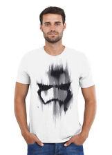 Mens STAR WARS - TROOPER MASK T Shirt Tee - White or Grey
