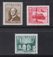 ESPAÑA (1948) NUEVO SIN FIJASELLOS MNH - EDIFIL 1037/39 FERROCARRIL TREN LOTE 2