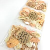 ROSE GOLD, Coral, Ivory Dried Biodegradable Wedding Confetti Petal Bags Packets