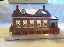 "Dept. 56 ""Stoney Brook Town Hall"" Lighted Boxed 1992"