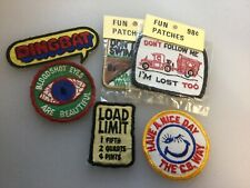 vintage lot of embroidered patches. Lot Of 6