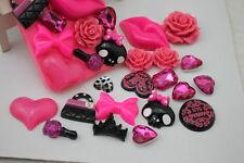 New 3D Bling Rose lips DIY Cell Phone iPhone4 Case - Deco Den Kit!