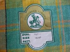 PEDIGREED LINENS Plaid Tablecloth & 6 Napkins Czechoslovakia Never Used