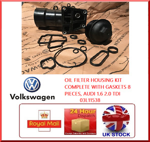 OIL FILTER HOUSING COMPLETE WITH GASKETS 8 PIECES, VOLKSWAGEN 1.6 2.0 TDI