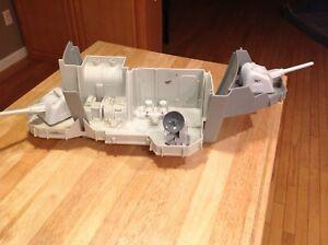 USS Flagg GI Joe Stern Hull and  hull insert, gun Turrets & radar dish