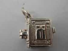 TRADITIONAL STERLING SILVER OPENING BIBLE CHARM   VINTAGE SILVER CHARM