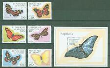 Guinea 1998 - Schmetterlinge Falter Butterflies Papillons  Nr. 1716-21 + Bl. 518