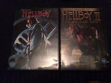 Hellboy/Hellboy 2 - The Golden Army (DVD, 2009, 4-Disc Set) region 2 uk dvd