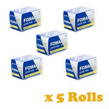 5 Rolls x FOMAPAN 100 Profi Line Classic Black and White Film 35mm 36exp by FOMA