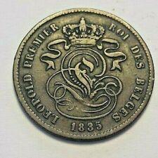 ==>> 2 cent 1835  Cents Belgïe Belgique  Léopold Ier 2 Centiem Zeldzam KM#4 <<==