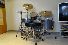 Schlagzeug Sonor SSE13, Black Galaxy, Beckensatz Millenium B20 Cymbalset, Hocker