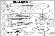Modelhob Springfield Bulldog planes de modelo de escala de línea de control