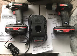 Craftsman 19.2V Lithium-ion Drill and Impact Driver Combo Kit New Open Box