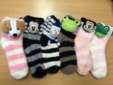 Bulk 12 x Women Girl Winter Warm Bed Socks Non-Slip Soft Sole