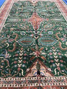 High Quality New Floral Oriental Area Rug, Hunter Green, Modern Geometric, 12x15